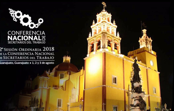 Imagen de la Basílica Colegiata de Nuestra Señora de Guanajuato y el logotipo de la CONASETRA 2018