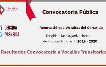 Convocatoria pública para la renovación de vocalías del Conasida