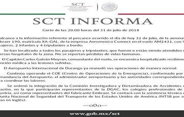 SCT informa