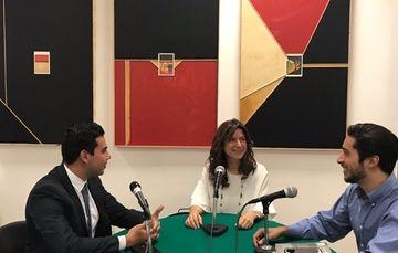 Programa de radio con Emerson Segur, Ricardo Smith y Natalia Saltalamacchia.