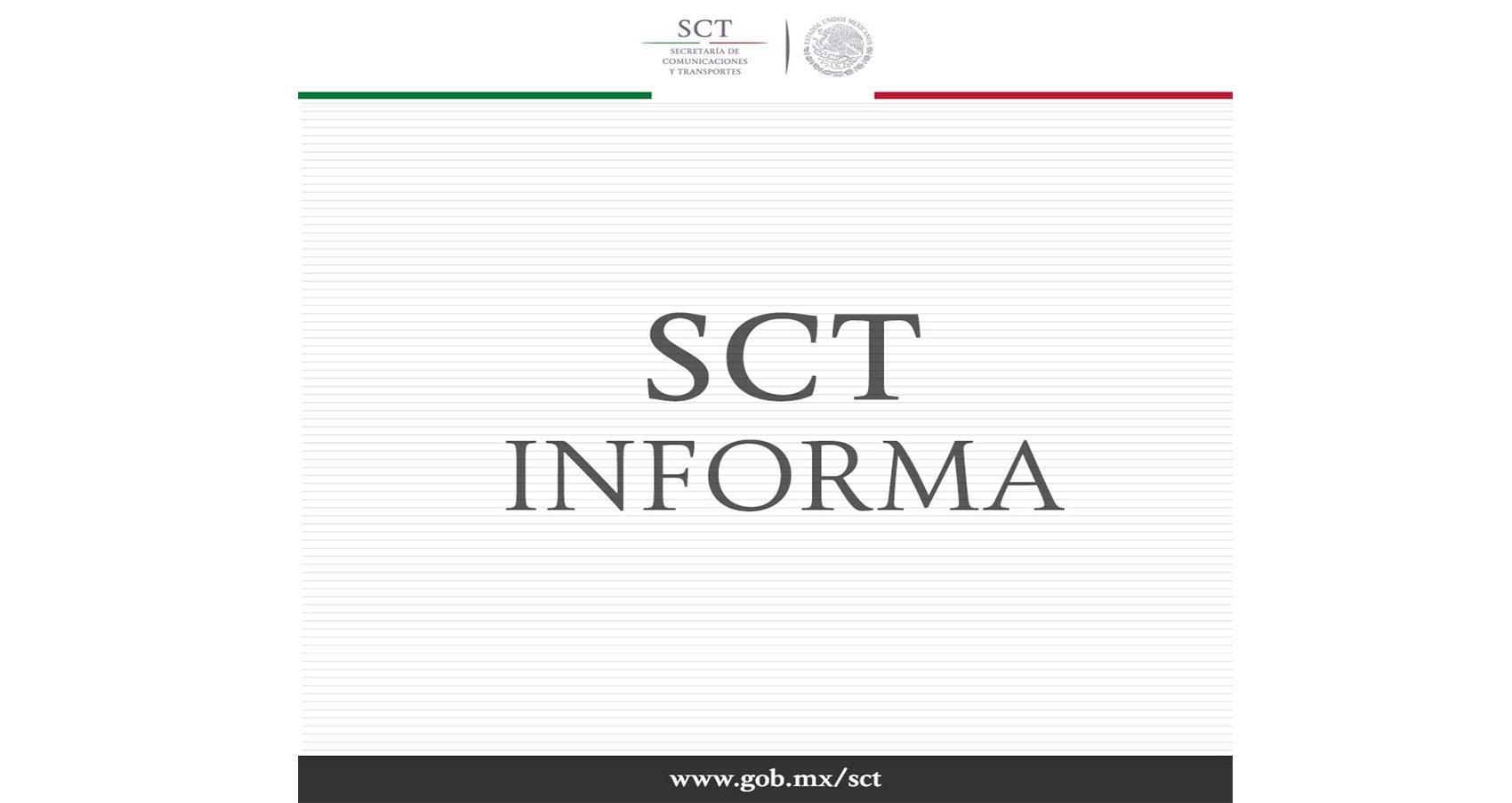 La Secretaría de Comunicaciones y Transportes informa. Accidente de la aeronave Embraer 190, matrícula XA-GAL, de Aeroméxico Connect