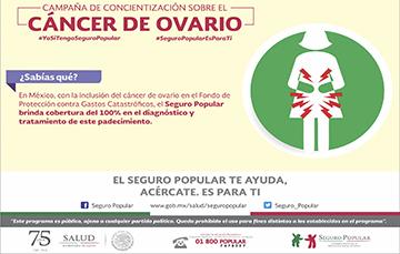 Campaña de concientización sobre el Cáncer de Ovario.
