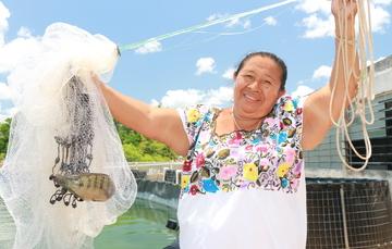 Mujer de origen maya de Yucatán
