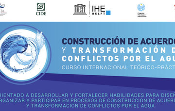 Logotipo del curso construcción de acuerdos y transformación de conflictos por el agua