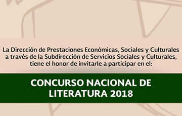Concurso Nacional de Literatura 2018