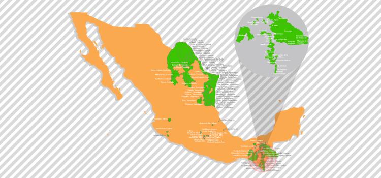 Infografía de los municipios que se han pronunciado a favor de conducir sus acciones gubernamentales bajo la Agenda 2030 y contribuir en los ODS que se encuentran dentro de su ámbito de competencia.