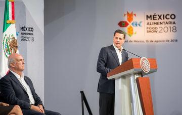 """El Primer Mandatario inauguró la tercera edición de la Expo México Alimentaria 2018 """"Food Show""""."""