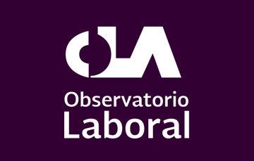 Imagen con las siglas de Observatorio Laboral (OLA) con el fondo color morado