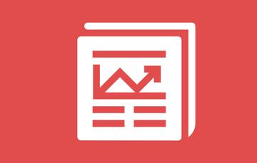 Ilustración de un documento sobre un fondo rojo