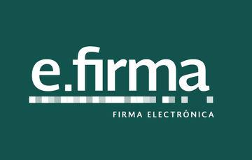 Imagen que muestra el logotipo de la firma electrónica sobre un fondo verde