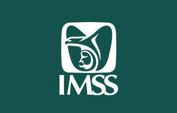 Imagen que muestra el logotipo del IMSS sobre un fondo verde
