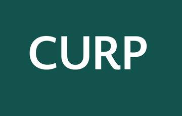Imagen que muestra las siglas de CURP sobre un fondo verde