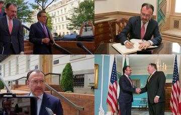 Canciller Luis Videgaray trata temas de agenda bilateral con el Secretario de Estado de EUA, Michael Pompeo