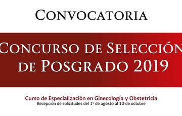 CONVOCATORIA  Curso de Selección de Posgrado 2019 Realizado cada año por el INPer