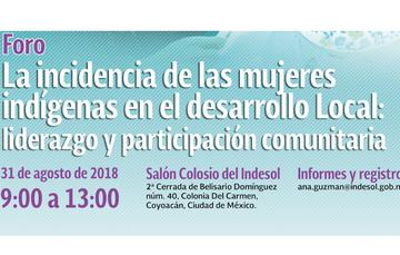 Invitación al foro sobre la incidencia de las mujeres indígenas en el desarrollo local