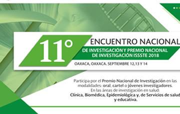 11° Encuentro Nacional de Investigación y Premio Nacional de Investigación ISSSTE 2018
