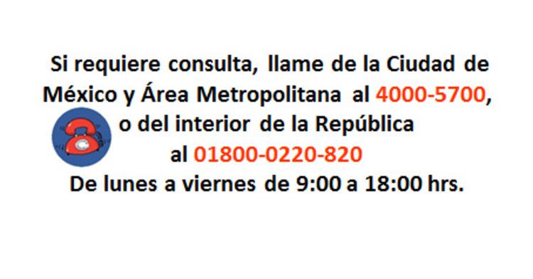Número telefónico para solicitar cita en el Hospital General Dr. Manuel Gea González