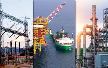 Industria hidroeléctrica y plataformas industriales