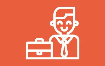 Imagen de un joven con un maletín de trabajo