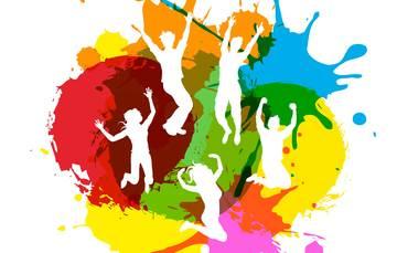 Imagen de siluetas de adolescentes rodeados de figuras de colores, acompañada del título de la Semana Nacional de Salud de la Adolescencia 2018