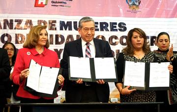Firma Alianza de Mujeres del Estado de Hidalgo contra las Adicciones y la Violencia
