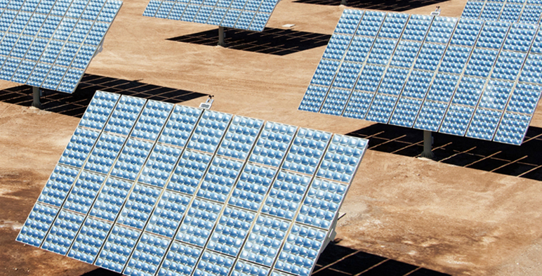 Campo de celdas solares