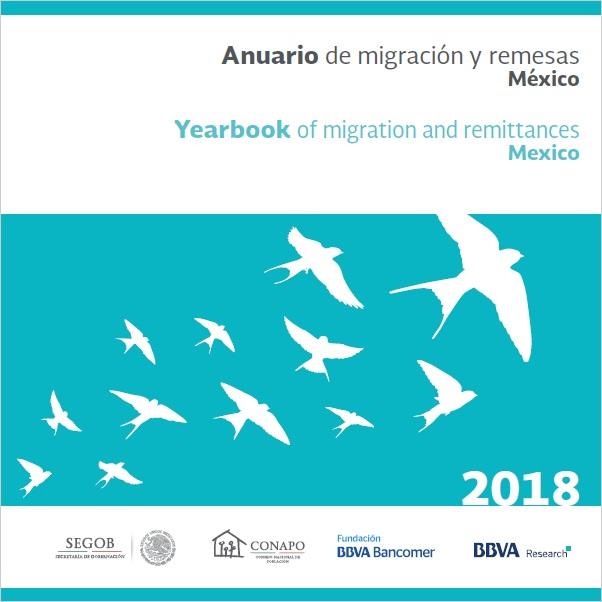 Portada Anuario de migración y remesas México, 2018.