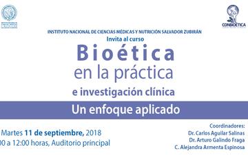 Curso Bioética en la práctica e investigación clínica