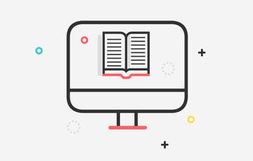 Ilustración de un documento en la pantalla de una computadora