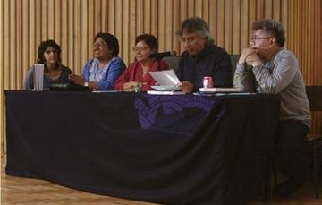 Gabriela Margarita Soria López, Julia Salazar Sotelo, María del Carmen Acevedo Arcos, Xavier Rodríguez Ledesma y Jorge Mendoza García.