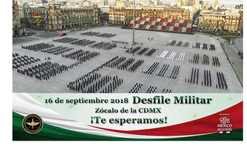 Imagen representativa al desfile militar en el Zócalo de la CDMX