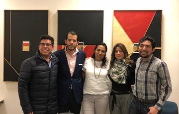 Rodrigo Jiménez, Jorge Armijo, Cristina Contreras, Natalia Saltalamacchia y Javier Martínez.