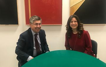 Joel Herández y Natalia Saltalamacchia