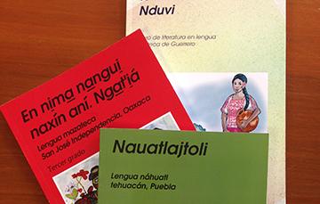 3 libros en lenguas indígenas