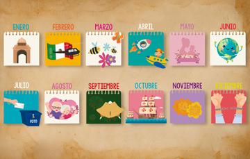 Imagen de calendario de efemérides