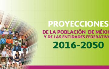 Imagen de la Pirámide poblacional referente a las Proyecciones de Población de México y de las Entidades Federativas 2016 - 2050