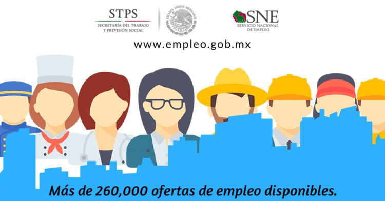 Gráfico donde aparecen persona de diferentes oficios y el texto dice: más de doscientas mil ofertas de empleo disponibles