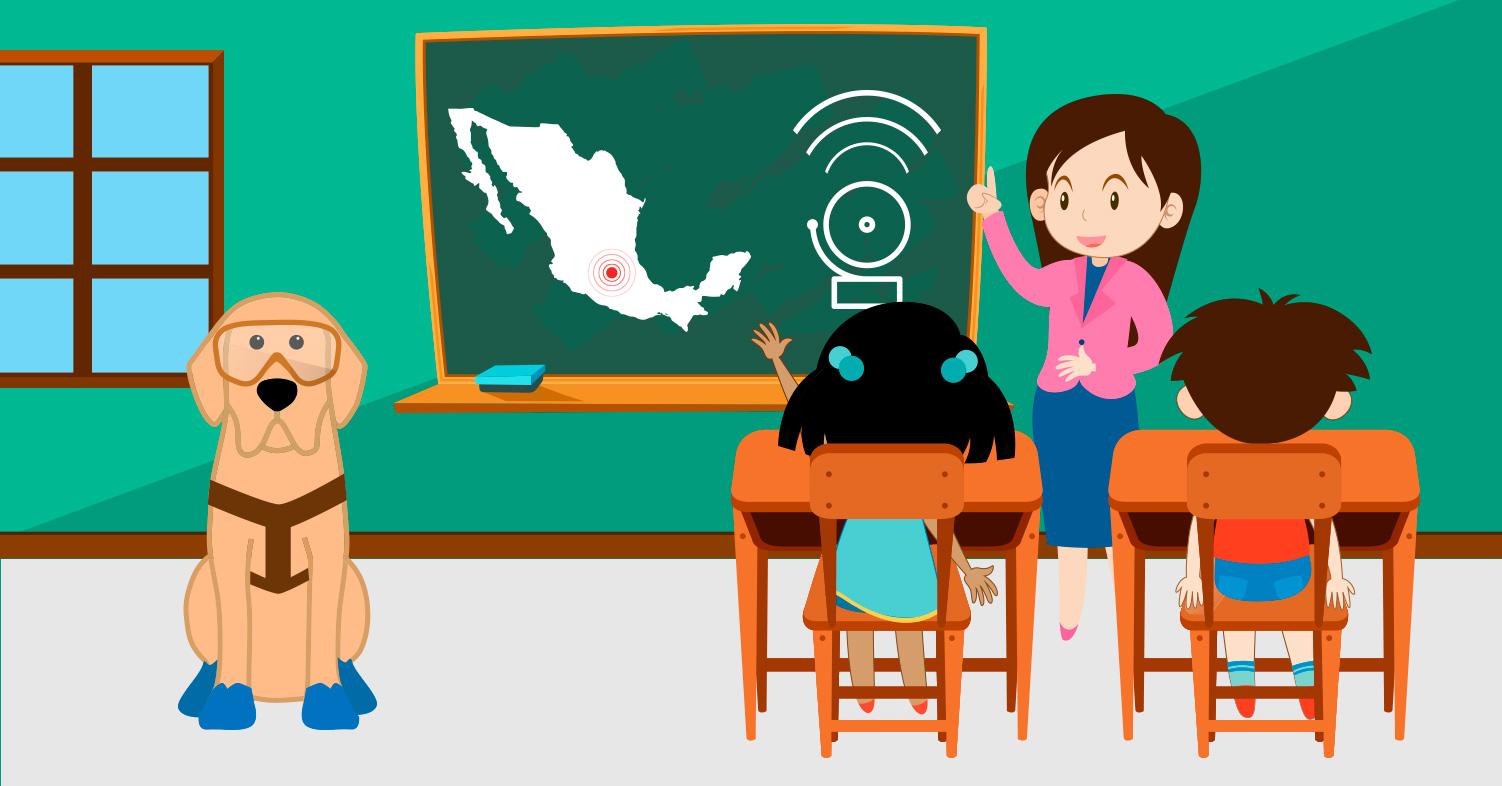 Imagen ilustrativa de docente y niños en el aula