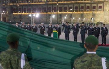 La Banda de Guerra interpretó el Toque de Silencio, y al final se entonó el Himno Nacional.