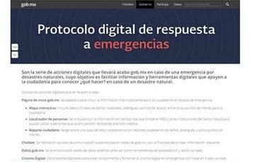Infórmate sobre las acciones a seguir en caso de emergencia al www.gob.mx/emergencias