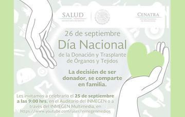 México celebra el Día Nacional de la Donación y trasplante de Órganos y tejidos