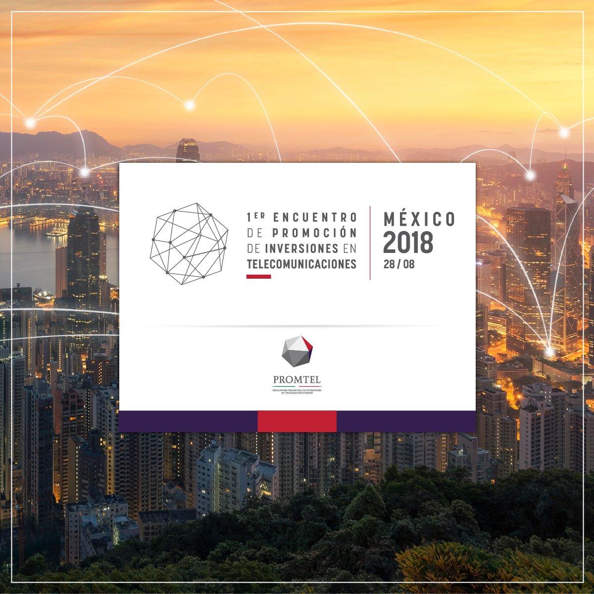 Se ve el logo del primer encuentro de promoción de inversiones en telecomunicaciones