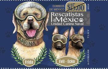 Estampilla Postal- Frida-Evil-Ecko
