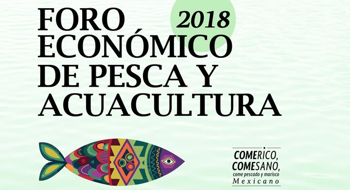 Poster del Foro Económico de Pesca y Acuacultura 2018