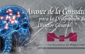 Imagen representa el avance de la consulta  para la dirección general del Instituto Nacional de Psiquiatría