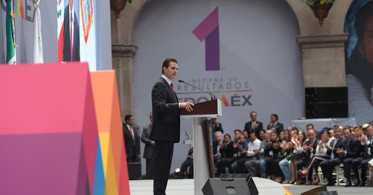 """""""Aquí nací, crecí y aprendí a querer a México. Aquí encontré mi vocación por el servicio público e inicié mi carrera política, y gracias a la confianza de los ciudadanos de este estado pude emprender el camino que me llevó a la Presidencia"""": EPN"""