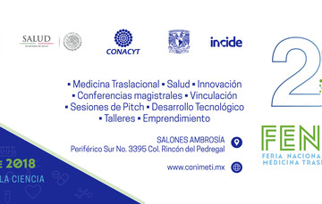 Descripción de la invitación ala segunda Feria Nacional  en Medicina Traslacional e innovación Convocatoria 2018
