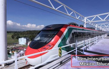 La SCT reporta avance de 82 por ciento del Tren Interurbano México Toluca