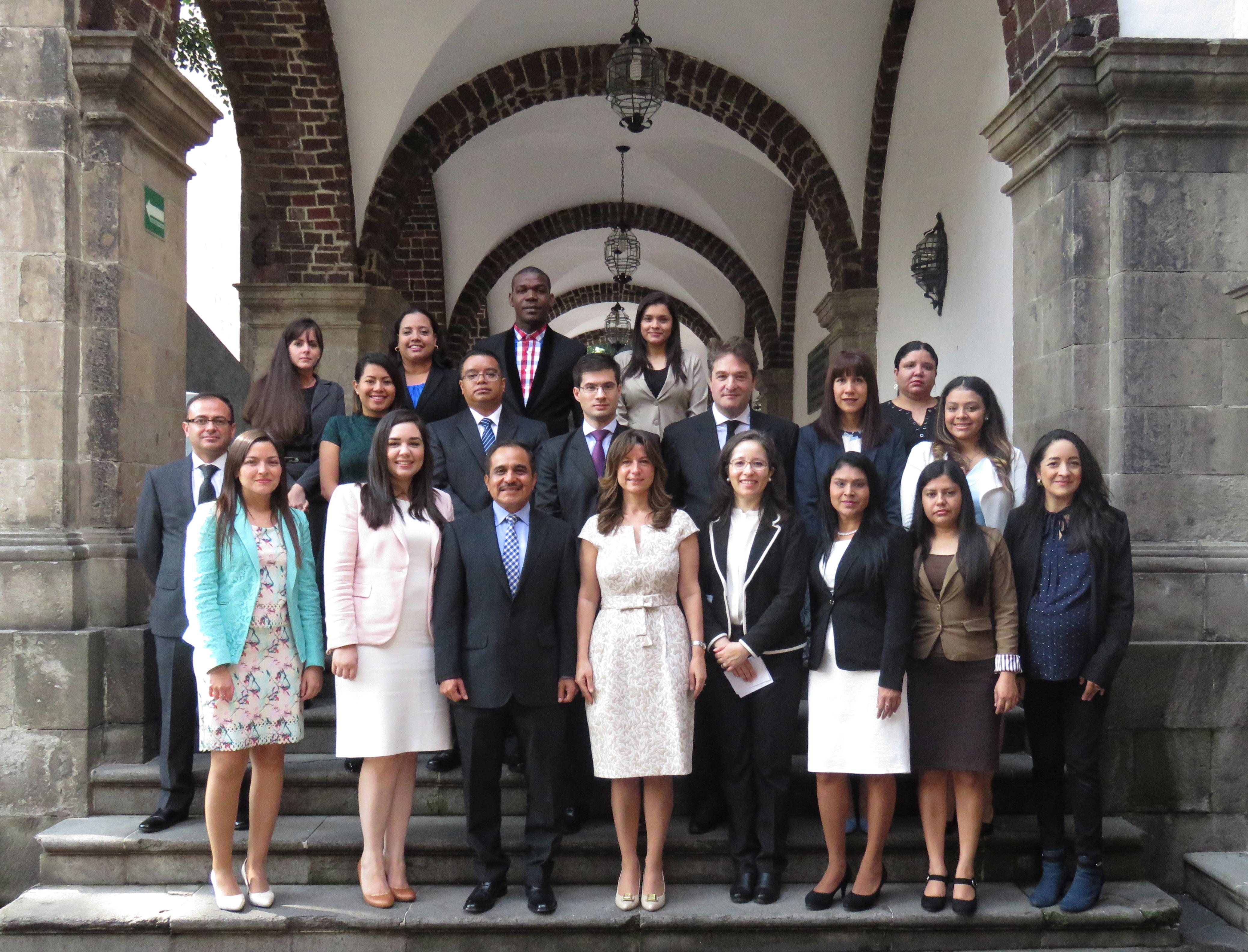 Participantes del XXIV Curso de Política Exterior de México para Diplomáticos de América Latina y el Caribe