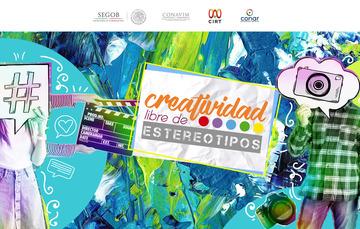 """Foro """"Creatividad libre de estereotipos"""", miércoles 3 de octubre, Secretaría de Gobernación."""